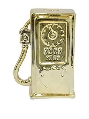 Three Hands Ceramic Gas Pump Bank, Gold