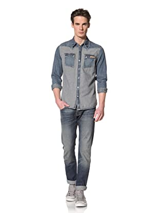 Artisan De Luxe Men's The Engineer Button-Up Shirt (Destroyed Stripe)