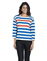 French Connection Ladies Boat Neck Cotton T-SHIRT 889624774791