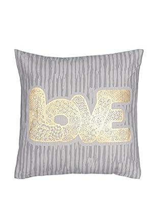 Chateau chic Kissen Love gold/grau