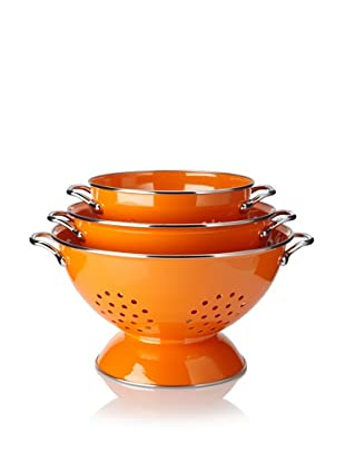 Reston Lloyd 3-Piece Colander Set (Orange)