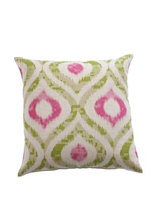 Filling Spaces Green & Pink Ikat Print Pillow, Green/Pink