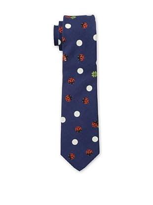 Gitman Blue Men's Ladybug Tie, Blue Multi
