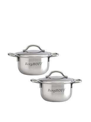 BergHOFF Set of 2 Mini Pots (Silver)