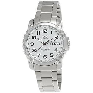 Q&Q Analog White Dial Men's Watch - A166N204Y