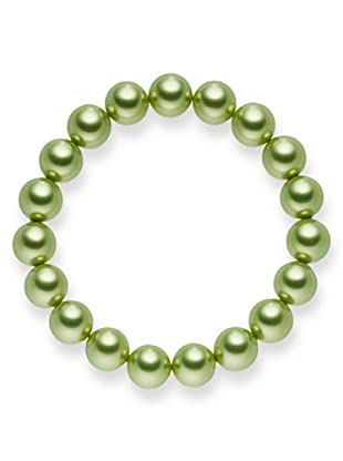 Perldor - 60650240 Pulsera de mujer con perla natural Verde 20 cm