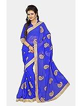 Chirag Sarees Designer Partywear Bridal Marriage Collection 396-BLUE