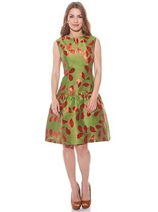 Divina Providencia Vestido Cocktail (Verde / Rojo)