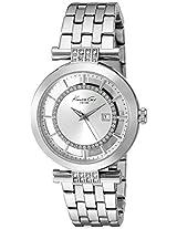 Kenneth Cole Transparency Digital Silver Dial Women's Watch - 10021103