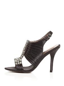 Bourne Women's Adriana T-Strap Sandal (Black)