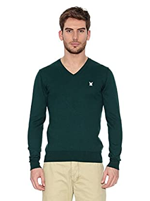 Polo Club Jersey Elbow (Verde Oscuro)