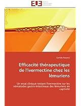 Efficacite Therapeutique de L''Ivermectine Chez Les Lemuriens