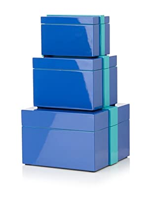 Mili Designs Set of 3 Boxes (Blue/Turquoise)