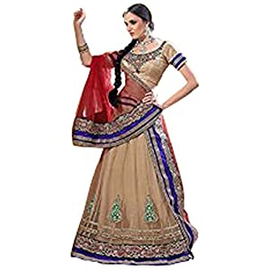 Styles Closet Designer Lehenga Choli - Red & Cream