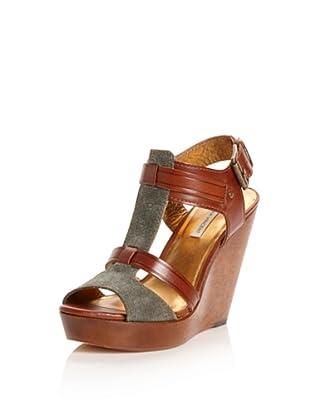 Cynthia Vincent Women's Jemma Wedge Sandal (Olive/Brandy)