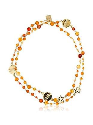 Borbonese Collar Miel / Dorado / Coral