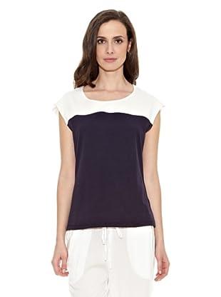 Cortefiel Camiseta Dos Colores (Azul Marino)
