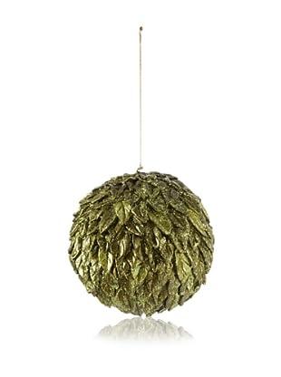 Leafy Design Ball Ornament