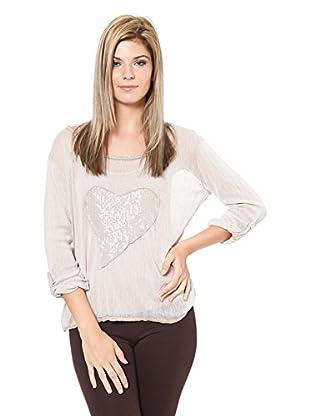 Laura Moretti Camisa Mujer (Beige)