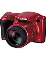 Canon Powershot SX410 IS 20MP Point and Shoot Camera (Red) with 40x Optical Zoom, 8GB Memory Card and Camera Case
