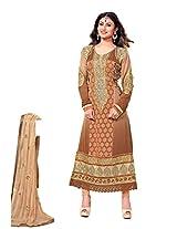 Adah Semi Stitched Georgette Salwar Kameez -594-9008