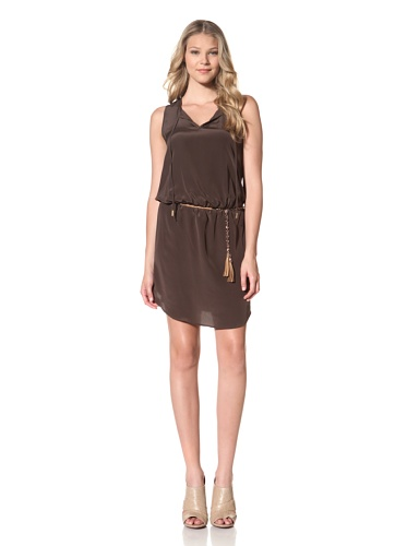 Akiko Women's Chain Belted Tunic Dress (Loden)