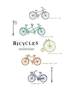 Ambiance Live Wandtattoo Colorful Bikes mehrfarbig