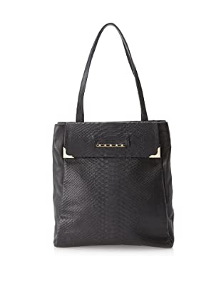 Be&D Women's Jaws Tote, Black Snake