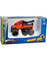 Maisto Fresh Metal Builder Zone Quarry Monsters Road Service Orange Tow Truck