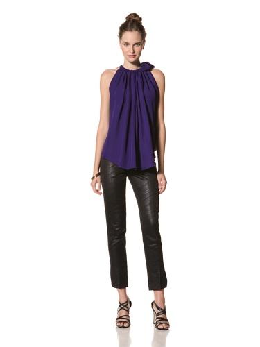 Juan Carlos Obando Women's Silk Sleeveless Top (Purple)