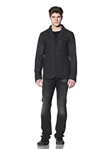 MG Black Label Men's Palatine Slim-Fit Blazer (Charcoal)