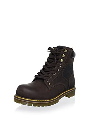 Dr. Martens Men's Joel 8-Eye Motorcycle Boot (Brown/Black)