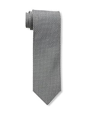 Bruno Piattelli Men's Rope Locks Silk Tie, Silver Black