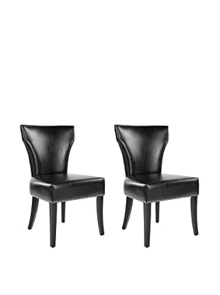 Safavieh Set of 2 Jappic Kd Side Chairs, Black