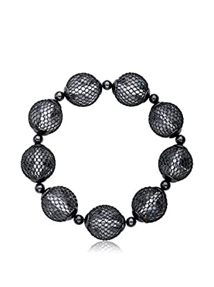 Riccova Country Chic Mesh Over Lucite Stretch Bracelet, Black