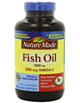 Nature Made Fish Oil 1000 Mg, Value Size, Softgels, 250-Count