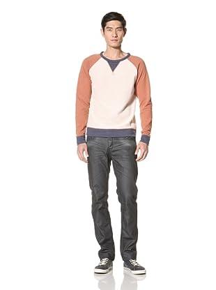 Zanerobe Men's Roscoe Fleece Raglan Sweater (Terracotta)