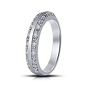 Women's Solid Platinum-plated Alloy Band/Ring