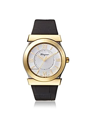 Salvatore Ferragamo Men's FI0950014 Vega Black/Silver Leather Watch