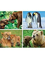 """Animal Planet 4 - 100pc Puzzle Pack """"Mommies & Babies"""""""