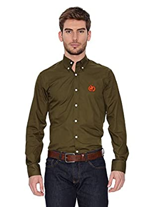 Polo Club Camisa Hombre Fitted (Verde Oliva)
