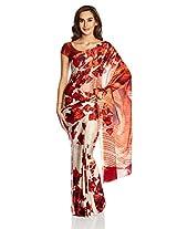 Satyapaul Saree with Blouse Piece (RD9010_03_SP862-0315_Dark Orange)
