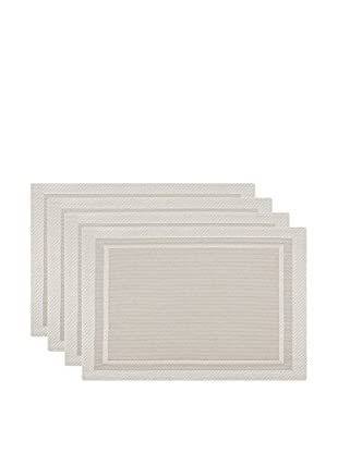 KAF Home Set of 4 Moderne Placemats, Light Champagne