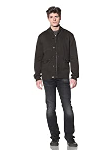 MG Black Label Men's Stapes Knit Shawl Collar Jacket (Forest green)
