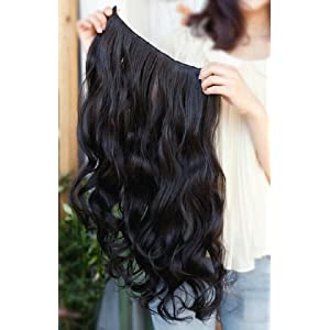 Map Of Beauty Long & Curly Clip-on Hairpiece - Black