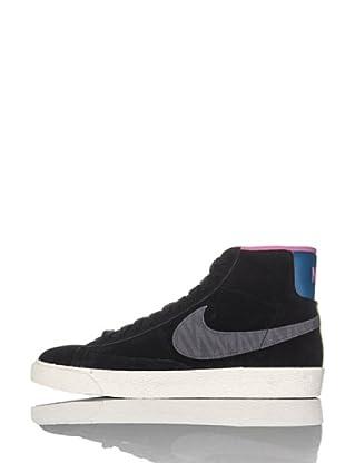 Nike Zapatillas Wmns Blazer Mid Suede Print (Negro/Antracita)