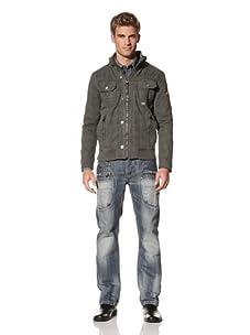 MOD Men's Hooded Zip-Up Light Jacket (Khaki)