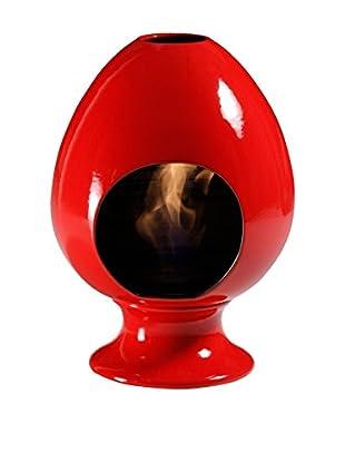 Your Fireplace Biokamin Caminoetto A Bioetanolo In Ceramica Pigna Red
