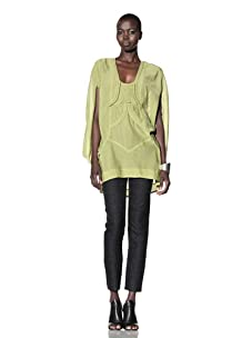 L.A.M.B. Women's Braided Embellished Tunic (Apple Green)