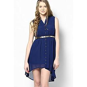 Navy Blue Asymetric Dress